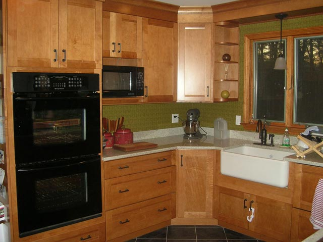 Kitchen remodeling, millwork installation by Addeo & Sons Construction, Upton, MA